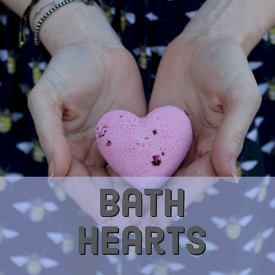 bath heart bath bombs