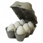6 White eggs