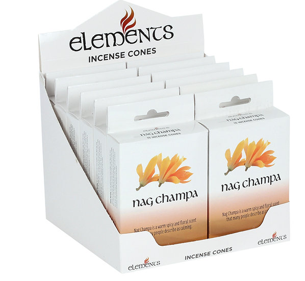 12 Packs of Elements Nag Champa Incense Cones