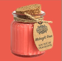 2x Midnight Rose Soy Pot Candle