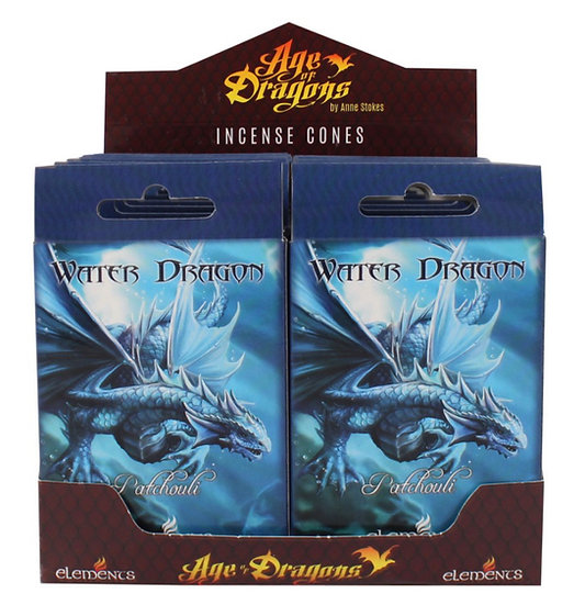 Water Dragon Incense Cones by Anne Stokes