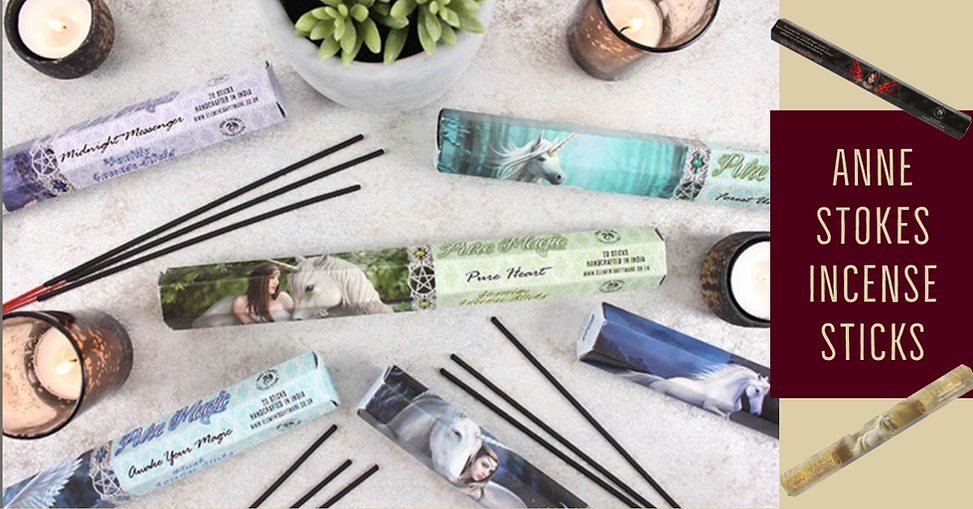 Incense sticks by designer Anne Stokes