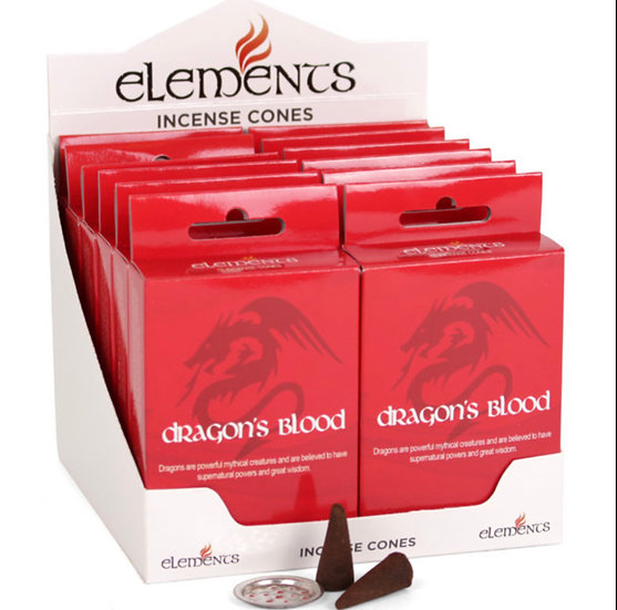 Dragons blood Incense Cones - Elements