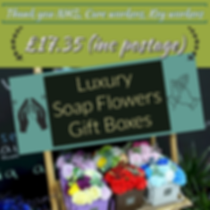 Thank you care workers nhs and key workers soap flower gift box