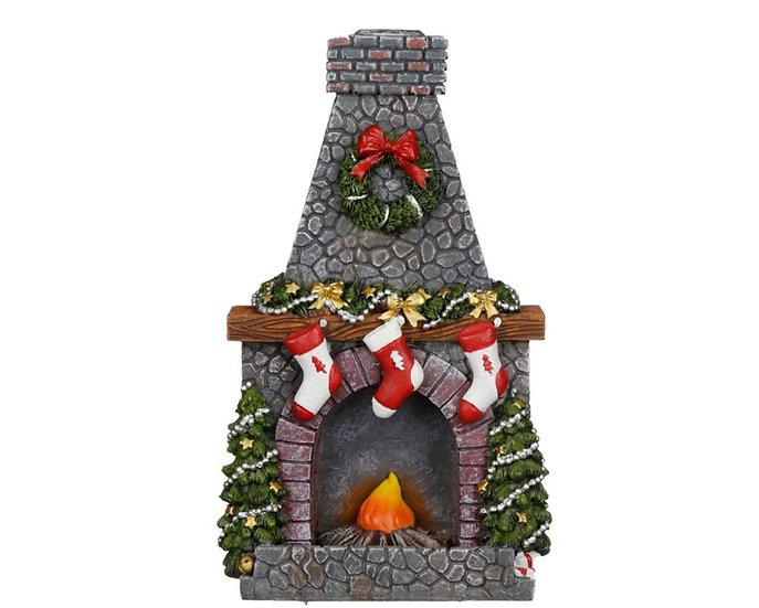 Christmas Fireplace Backflow Incense Burner