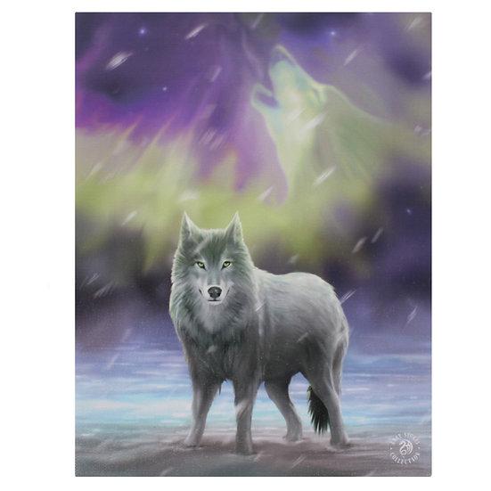 Aurora Canvas Plaque by Anne Stokes