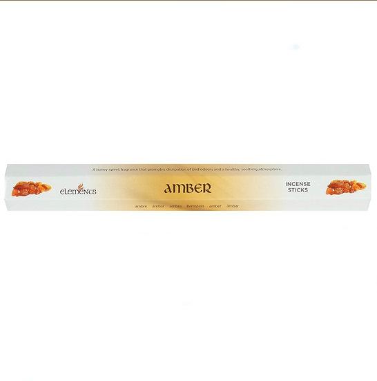 Amber fragranced incense sticks by Element