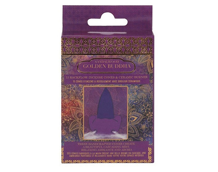 Sandalwood scented  Buddha Backflow Incense Cones