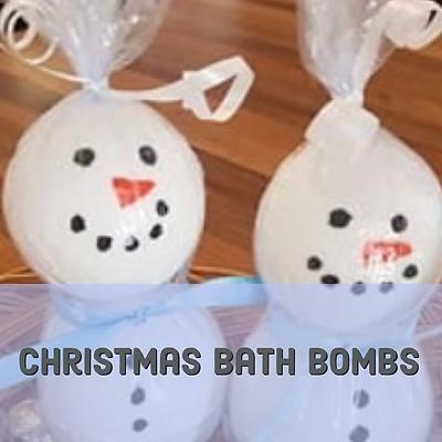 Christmas bath bombs header