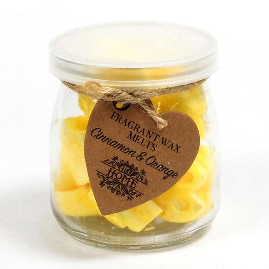 Cinnamon & Orange Scented Soy Wax Melts In a jar