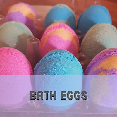 Bath egg bath bombs