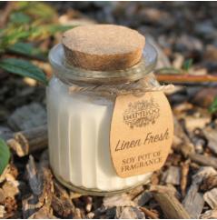 2x Linen Fresh Soy Pot Candle