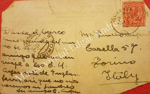 Revers carte postale pour Pancho Desposi