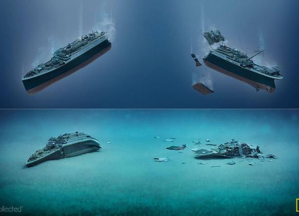 Hundimiento y restos del Titanic