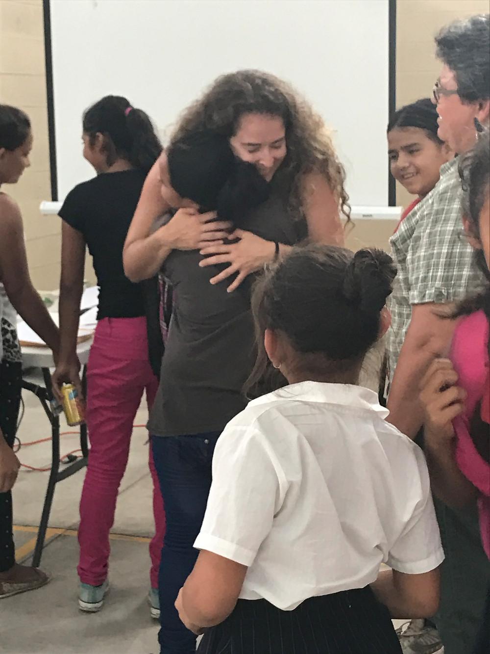 Heartfelt hugs in El Progreso