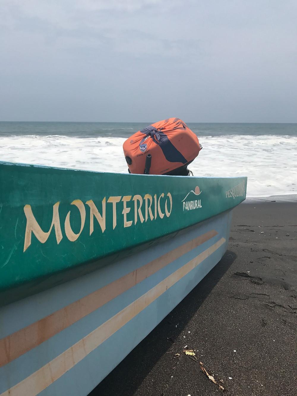 The black sands of Monterrico