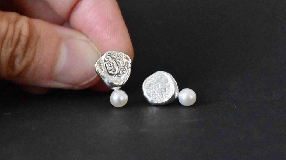 Recycle Silver Earrings 2