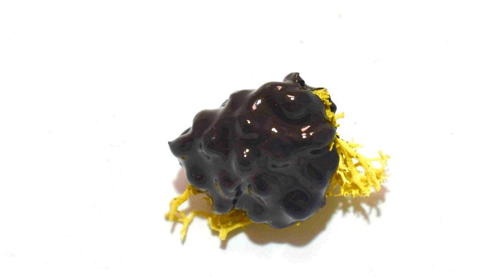 Egg Waffle Pin - Black