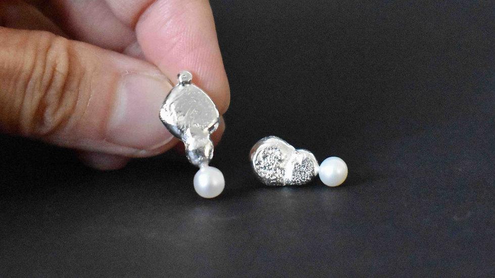 Recycle Silver Earrings 1