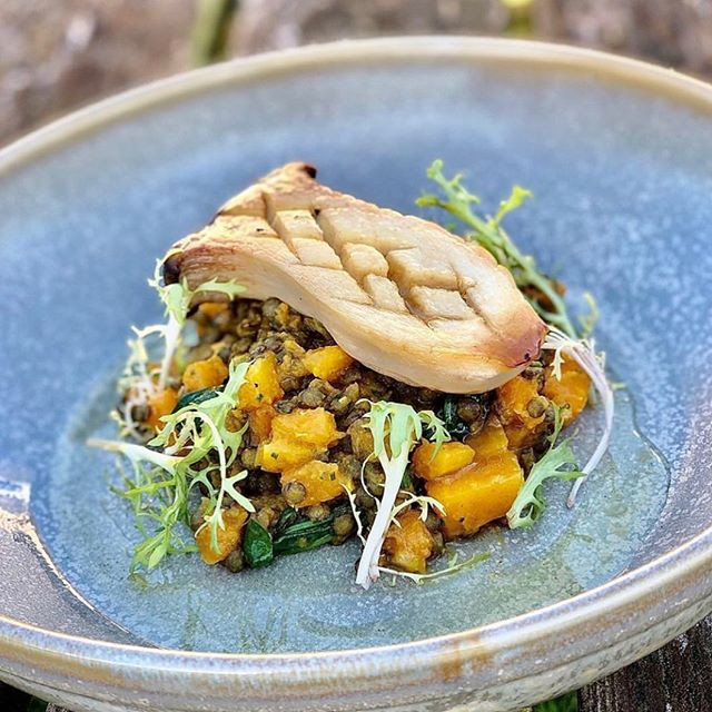 King oyster mushroom, lentil & squash curry