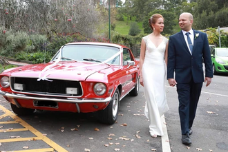 Special edition Mustang wedding car hire