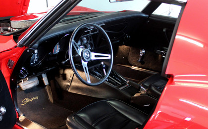 Sit at the wheel of this 1973 Corvette