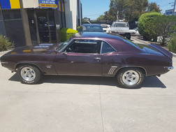 Classic 1969 SS Camaro for hire in Melbourne