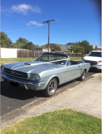 Mustang wedding car hire Melbourne