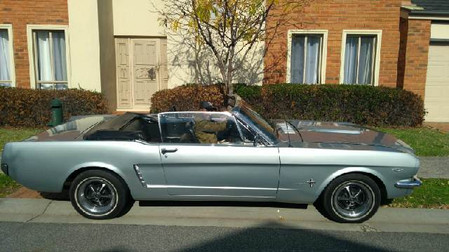 Immaculate 1965 Mustang Convertible for hire in Melbourne