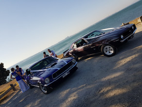 Every wedding runs better with a classic American muscle car