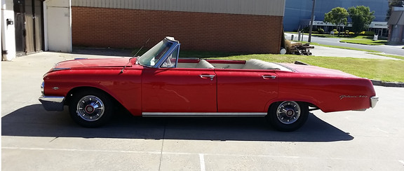 Stunning 1962 Ford Galaxie Convertible for hire in Melbourne