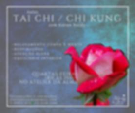 cartaz infomativo sobre aulas d Tai Chi Chuan