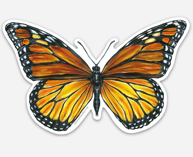 """Monarch Sticker 2.78"""" x 4"""""""