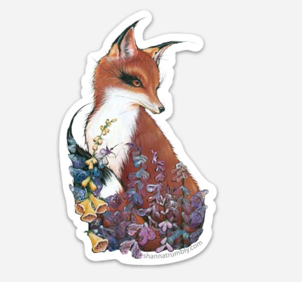 "Fox Sticker 2.78"" x 4"""