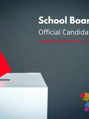 Official School Board Candidate List Released