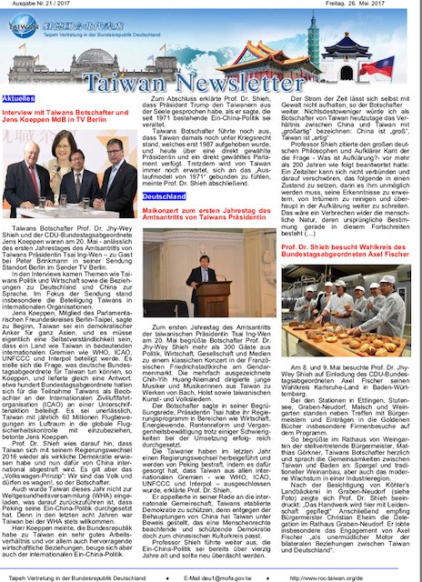 Taiwan Newsletter