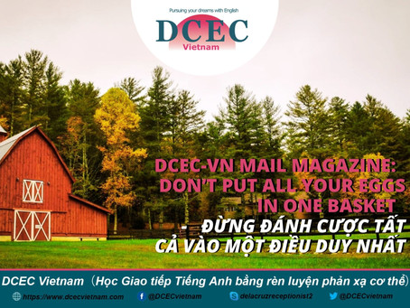DCEC-Vietnam Mail Magazine: Don't put all your eggs in one basket