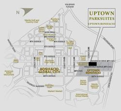 Uptown Parksuites Map