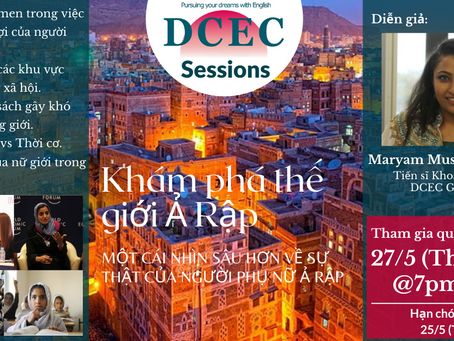Vào thứ Năm rồi, buổi diễn văn của Mimi - Governess của DCEC - với tựa đề: