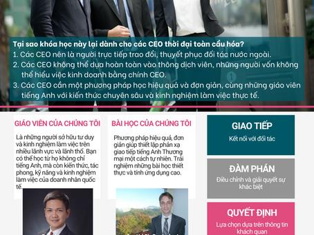KHÓA HỌC TĂNG CƯỜNG TIẾNG ANH THƯƠNG MẠI DÀNH CHO CÁC CEO