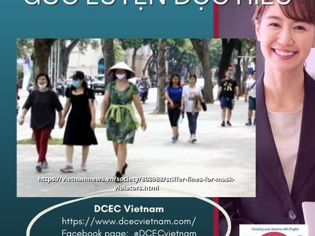 GÓC LUYỆN ĐỌC HIỂU: Stiffer fines for mask violators