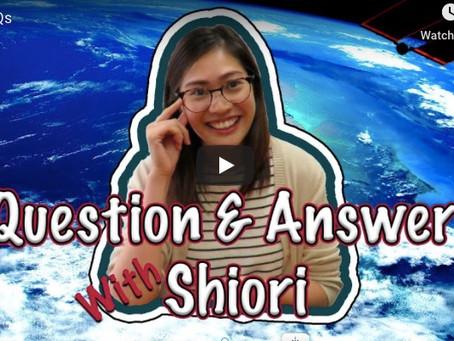 ガヴァネスのShioriに日本について質問しました