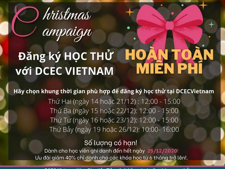 Christmas Campaign: Đăng ký HỌC THỬ với DCEC VIETNAM
