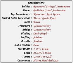Bellisimo GA Data Sheet