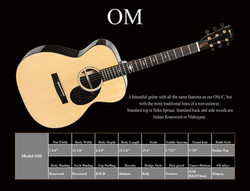 OM Standard Spec Sheet