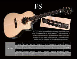 FS (Fingerstyle) Standard Spec Sheet