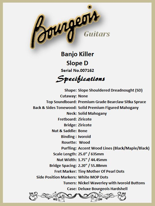 Bourgeois Banjo Killer Features