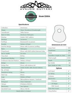 D300A Spec Sheet