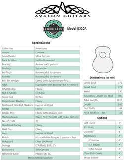 S320 A Spec Sheet