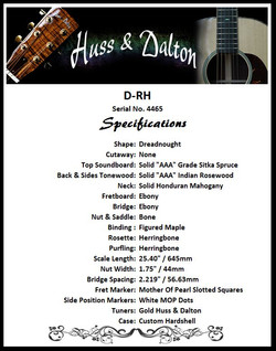 D-RH Standard Specifications